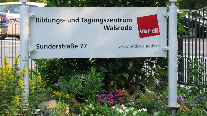 Walsrode Hinweis Schild Haus Eingang